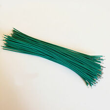 """US Stock 100x 15cm 5.9"""" Green Two Ends Tin-plated Breadboard Jumper Cable Wire"""