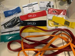Resistance band lot SKLZ super SPRI bands power systems