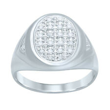 10K SOLID White Gold Men's Ring/Band with 0.26ct Round Diamonds!!