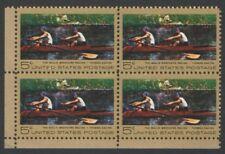 Vintage Unused US Postage Block 5 Cent Stamps BIGLIN BROTHERS RACING Thomas Eaki