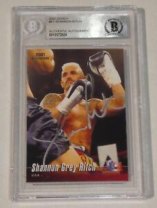 Shannon Ritch Signed 2001 Epoch K-1 Kickboxing MMA Card BAS Beckett COA Pride FC