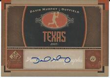 2012 MLB Baseball Sp Signature Edition Upper Deck #TEX3 DAVID MURPHY Texas