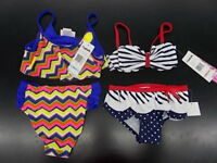 Toddler & Girls Flapdoodles $28-$34 2pc Multi-Color or Navy Swimsuits Sz 2/2T-6X