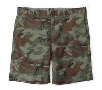 "J.Crew - Men's - NWT$75 - 9"" Green/Brown Camo Cotton Stretch Shorts  H2973"