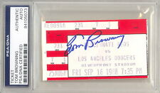 SEPT 16 1988 TOM BROWNING PERFECT GAME SIGNED CINCINNATI REDS TICKET PSA (502E)