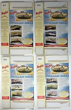 1997 Mornflakes Cereal Kelloggs Cunard Line Ship Cards x 4 Packets - Mauretania
