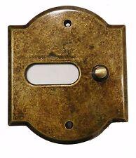 Campanello pulsante pulsantiera ottone brunito antichizzato 1 tasto