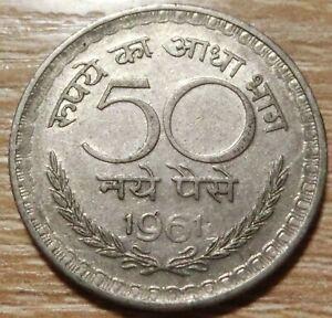 Indien  50  Paise  1961