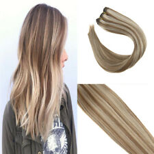 VeSunny Sew in Hair Weft 100% Human Hair 100gr Brown Highlights Blonde #6/613