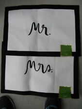 KATE SPADE NEW YORK MR & MRS PLACEMATS **BRAND NEW***