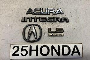 1990-1993 Acura Integra LS Special Edition Rear Emblem Set OEM DA DA6 SE Rare