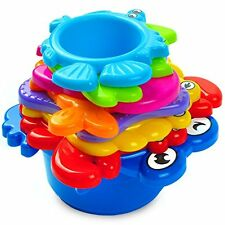 AGreatLife Blocks My First Stacking Cups: Best Educational Bath Toy For Kids Fun
