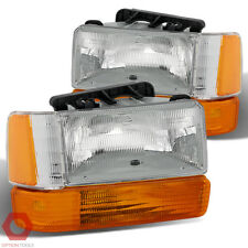 Fits 91-96 Dakota Headlights (Clear) + Replacement Aero Package Corner Lights