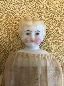 "7 1/2"" Small Blond China Head Doll"