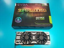 EVGA NVIDIA Geforce GTX 1080 SUPERCLOCKED 8GB GDDR5X Graphics Card GPU SLI VR