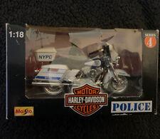 Toy Maisto 1:18 Harley Davidson NYPD Motorcycle series 4