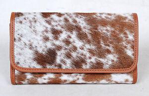 100% Real Cowhide Wallet Real Leather Hair ON Western Ladies Wallets  SA-3038
