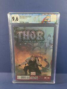 Thor God of Thunder #2 🔨CGC 9.6 1st Gorr the God Butcher Love & Thunder🍿 Movie