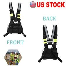 Wireless Tactics Safety Vest Waistcoat For Men Amp Women With Adjustable Strap Black
