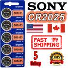 5 Pcs SONY CR2025 Lithium Cell Battery 3V 162mAh Ship Exp. 2030 Ship From Canada