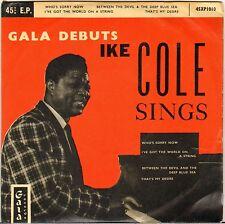 "IKE COLE ""SINGS"" VOCAL JAZZ 50'S EP GALA 1010"