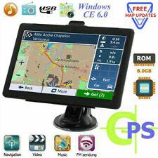 """7"""" Truck Car GPS Navigation 8GB Navigator SAT NAV Free US EU Map Touch Screen FM"""