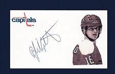 Bengt Gustafsson signed Washington Capitals hockey index card