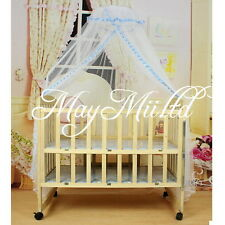 Hot Baby Infant Mosquito Bug Net Toddler Bed Crib Canopy Cot Blue Edged I