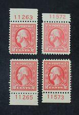 Ckstamps: Us Stamps Collection Scott#527 528 2c Washington Mint H Og