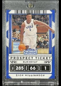 Zion Williamson 2020 Panini Contenders Rookie Card Prospect Ticket white 🔥📈#13