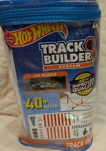 New Sealed Hot Wheels Track Builder System Track Pack 40+ Pieces with Car DPF21