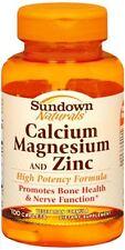 Sundown Calcium Magnesium and Zinc Caplets 100 Caplets (Pack of 4)