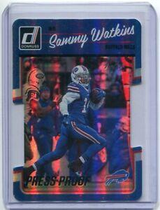 2016 Donruss Press Proof BLACK Die Cut Sammy Watkins 1/1 Buffalo Bills