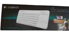Logitech Wireless Touch Keyboard K400 Touchpad NIB White
