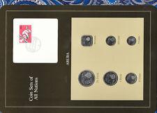 Coin Sets of All Nations Aruba w/card 1986-1993 2.5 Florin 86 1 Florin 1992 UNC