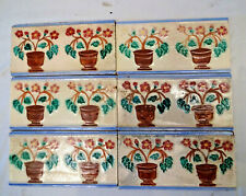 Antique Tile Ceramic Porcelain Wankaner Pottery Flower Pot Design Collectibles *