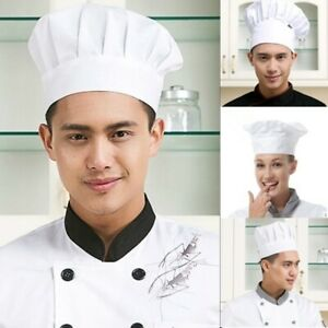 New Popular Pleated Chefs Catering Hat Round Cap Cook Food Prep Kitchen Tool