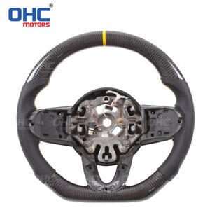 REAL CARBON FIBER Steering Wheel For Mini Cooper F54 F55 F56 F60 Countryman