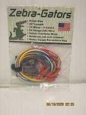 """Zebra-Gators ZG002 Jumper Wires 22AWG 10pc/5 colors 36"""" length FREE SHIP NISP!!!"""