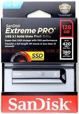 SanDisk Extreme Pro 128GB USB Flash Drive - SDCZ880128GG46