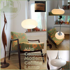 DORIA TULIP VINTAGE MID CENTURY MODERN CEILING LAMP ALU & GLASS 60s 70s GERMANY
