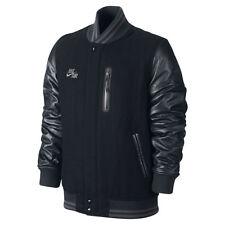 Nike Heritage Varsity Destroyer Jacket Leather Bomber Men's SZ L NWT 577516 010