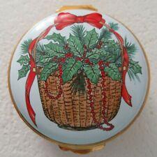 Big Rare Crummles Nantucket Christmas Basket Island Pill Trinket Box Cape Cod
