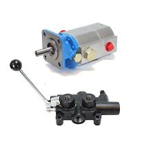 "11GPM 2 Stage Pump / 25 GPM 1/2"" Work Ports Valve Log Splitter Combo Kit"