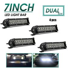"4PCS 7"" 1180W Dual Row LED Light Bar Work COMBO Beam Truck ATV Camp 4WD Car 6/8"""