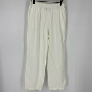 Solumbra Pants Size Small Womens White Active Pull On Elastic Waist Crop Capri