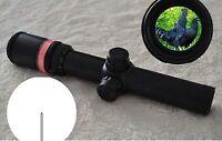 New 1.5-6x24 Fiber Optic Scope Red Triangle illuminated Reticle + 20mm Mounts