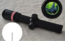 Hot Sale 1.5-6x24 Fiber Optic Scope Red Triangle illuminated Telescopic Rifle