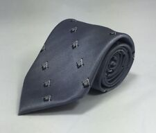 Masonic Square & Compasses Woven Necktie - Gray (MSC-NT-GRY)