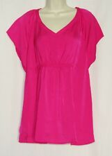MEDIUM Maternity Top Pink Satin Blouse NEW a glow Kohls a:glow Pregnancy Shirt 8